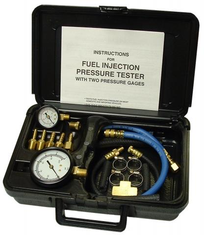 Fuel Injection Pressure Tester with 2 Gages in Case | Tool Aid